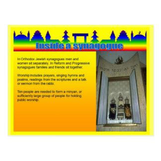Onderwijs, Godsdienst, binnen een Synagoge Briefkaart