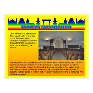 Onderwijs, Godsdienst, Joodse synagoge Briefkaart