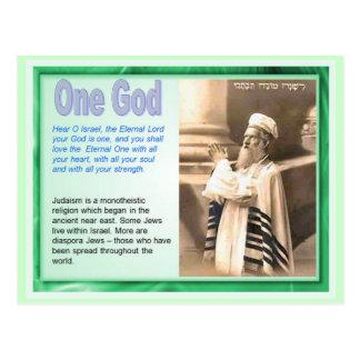 Onderwijs, Godsdienst, Judaïsme, Één God Briefkaart