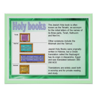 Onderwijs, Godsdienst, Judaïsme, Heilige Boeken Poster