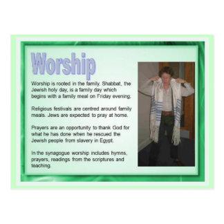 Onderwijs, Godsdienst, Judaïsme, Joodse verering Briefkaart