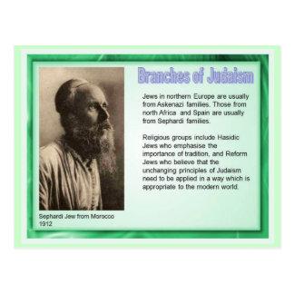 Onderwijs, Godsdienst, Judaïsme, Takken van Briefkaart