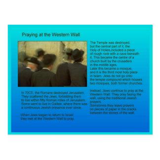 Onderwijs, Godsdienst, Judaïsme, westerne muur Briefkaart