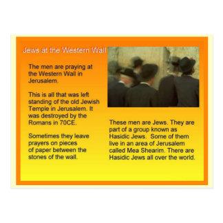 Onderwijs, Judaïsme, Joden bij de Westerne Muur Briefkaart