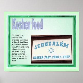 Onderwijs, Judaïsme, Kosjer Voedsel Poster