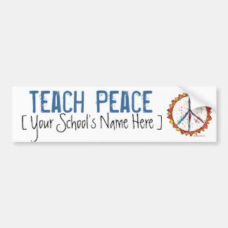 Onderwijs Vrede - de Sticker van de Bumper Bumpersticker