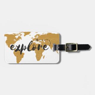 Onderzoek het Gouden Label van de Bagage Kofferlabel