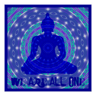 Oneness Mandala met Boedha Poster