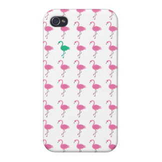 oneven glanzende flamingoiphone 4 iPhone 4/4S hoesje