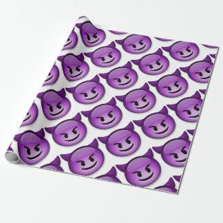Ongehoorzaam gezicht Emoji Inpakpapier