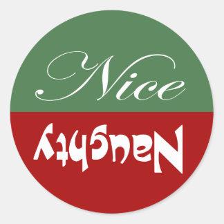 Ongehoorzaam of Nice Ronde Stickers