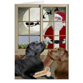 Ongehoorzame labrador of de Kerstkaarten van Nice Briefkaarten 0