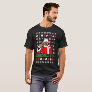 Ongelooflijke Jeff Chris Kamara Santa Christmas T Shirt