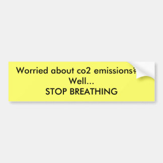 Ongerust gemaakt over Co2emissies??? Goed… EINDE B Bumpersticker