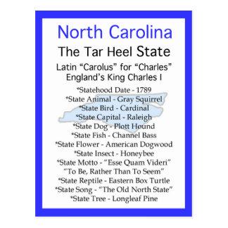 Ongeveer Noord-Carolina Briefkaart