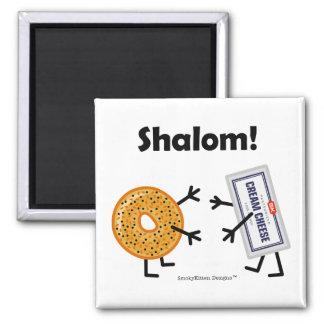 Ongezuurd broodje & Roomkaas - Shalom! Magneet