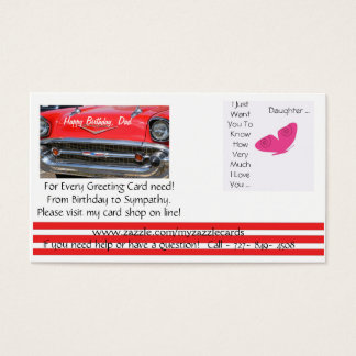 Online het wenskaartwinkel van Myzazzlecards Visitekaartjes