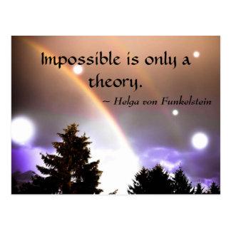 Onmogelijk slechts is een Inspiratie van de Briefkaart