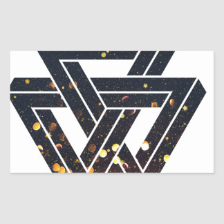 Onmogelijke ZonneMeetkunde 1 Rechthoekige Sticker