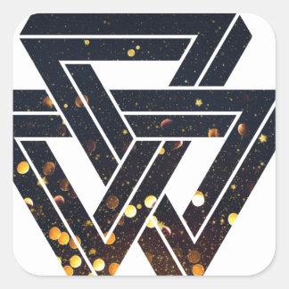 Onmogelijke ZonneMeetkunde 1 Vierkante Sticker