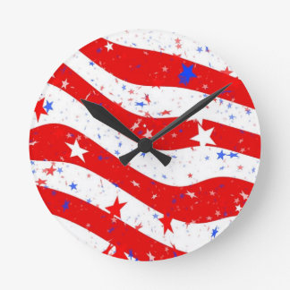 Ons de Amerikaanse Vlag van de Vlag van Amerika Ronde Klok