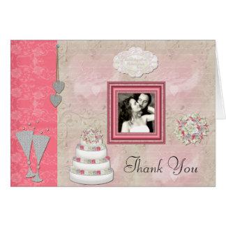 Ons Huwelijk dankt u het Lijst van de Foto Kaart