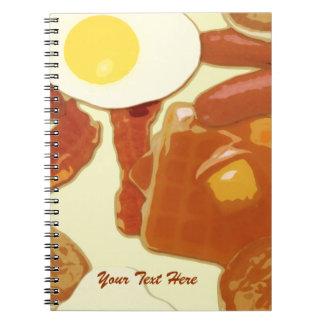 Ontbijt Gepersonaliseerd Notitieboekje Ringband Notitieboek