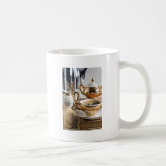 Ontbijt in vintage stijl - espresso en Savoiard Koffiemok