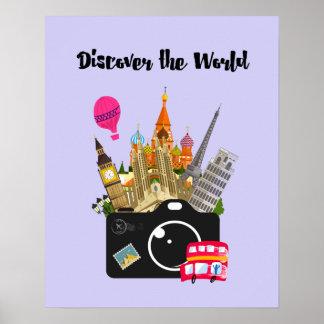 Ontdek de Europese Oriëntatiepunten van de Wereld Poster