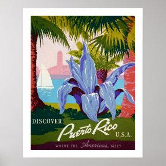 Ontdek Reis, de Geschiedenis van Puerto Rico Poster