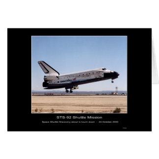 Ontdekking landen-STS-92 van de Ruimtependel van Briefkaarten 0