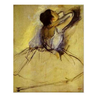 Ontgas Danser in de Gele Fijne Druk van de Kunst Poster