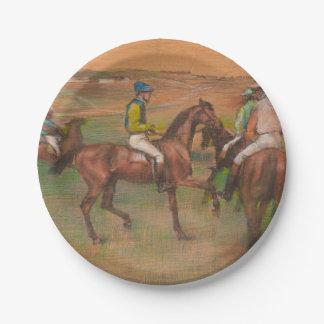Ontgas de Impressionist van de Paarden van het Ras Papieren Bordje