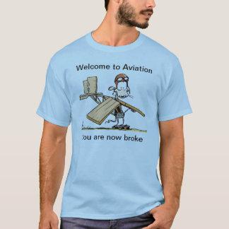 Onthaal aan de Grappige T-shirt van de Luchtvaart