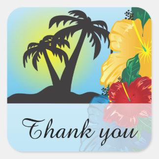 Onthaal aan een Mooi Tropisch Paradijs Vierkante Sticker