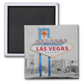 Onthaal aan Fabelachtig Las Vegas 2 duim Vierkante Vierkante Magneet