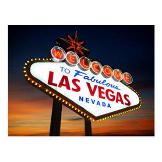 Onthaal aan Fabelachtig Las Vegas Nevada Briefkaart