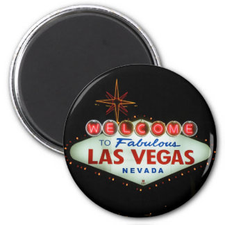 Onthaal aan Fabelachtig Las Vegas - Nevada Ronde Magneet 5,7 Cm