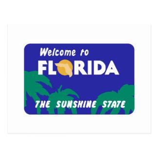 Onthaal aan Florida - de Verkeersteken van de V.S. Briefkaart