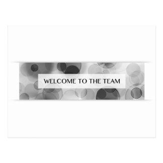 onthaal aan het team (bokeh) briefkaart
