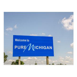 Onthaal aan het Zuivere Blauwe Teken van Michigan Briefkaart