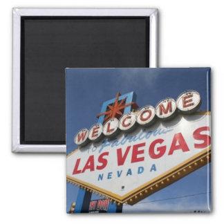 Onthaal aan Las Vegas Vierkante Magneet