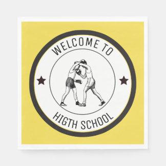 Onthaal aan Middelbare school Papieren Servet