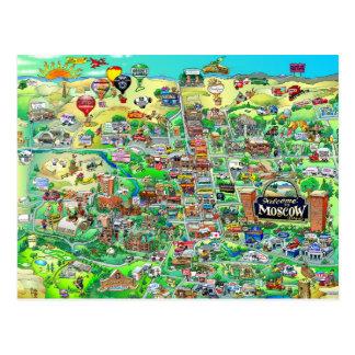 Onthaal aan Moskou Idaho - de Kaart van de Cartoon Briefkaart