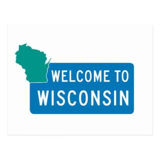 Onthaal aan Wisconsin - de V.S. Briefkaart