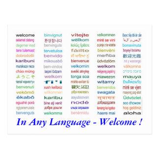 Onthaal in 80 het Briefkaart van Talen