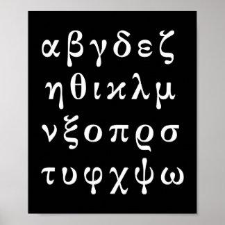 onthoud Grieks alfabet Poster
