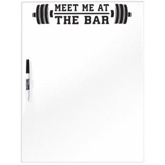 Ontmoet me bij de Bar - Barbell - Training Whiteboard