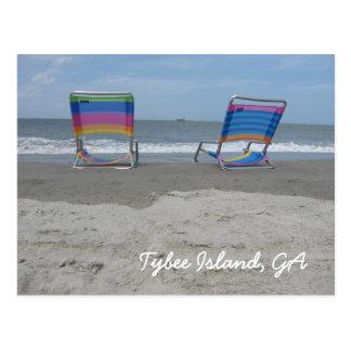 Ontspan door het strand briefkaart