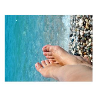 ontspant het zee oceaanstrand de zomertoerisme van briefkaart